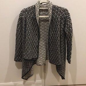Black and white Zara cardigan